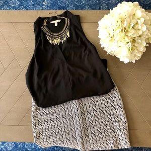 Banana Republic black v-neck blouse